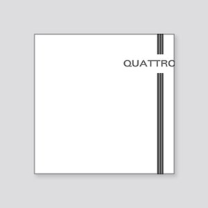 "Quattro Line Square Sticker 3"" x 3"""