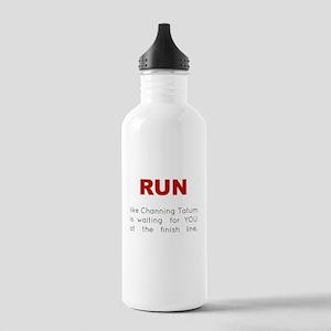 Running for Channing Tatum Stainless Water Bottle