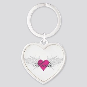 Sadie-angel-wings Heart Keychain