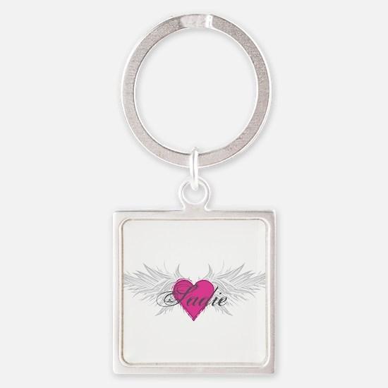 Sadie-angel-wings.png Square Keychain