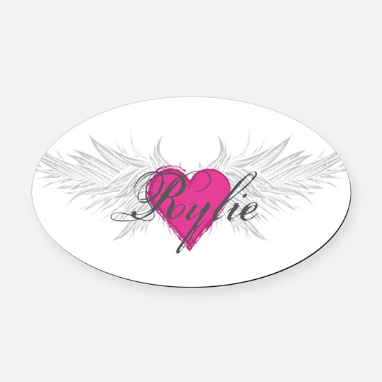 Rylie-angel-wings.png Oval Car Magnet