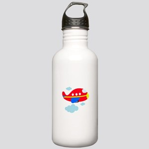 Red Cartoon Airplane Stainless Water Bottle 1.0L