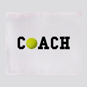 Tennis Coach Throw Blanket