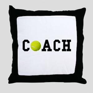 Tennis Coach Throw Pillow