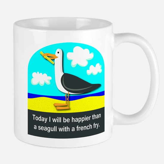 Happier than a Seagull with a French Fry Mug