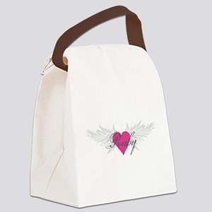 Ruby-angel-wings Canvas Lunch Bag