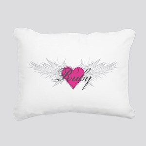Ruby-angel-wings Rectangular Canvas Pillow