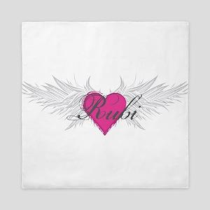 Rubi-angel-wings Queen Duvet