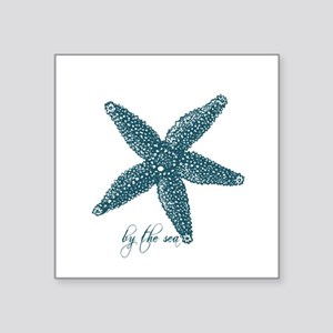 """By the Sea Starfish Square Sticker 3"""" x 3"""""""