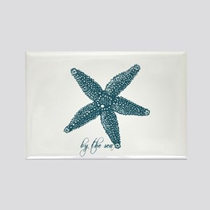 By the Sea Starfish Rectangle Magnet