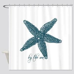 By the Sea Starfish Shower Curtain