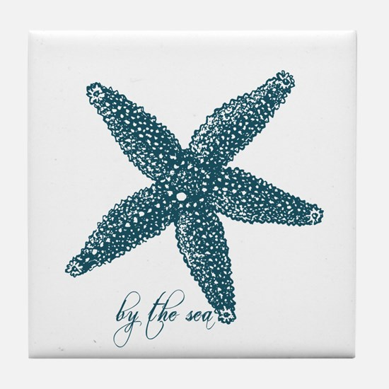 By the Sea Starfish Tile Coaster
