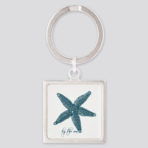 By the Sea Starfish Square Keychain