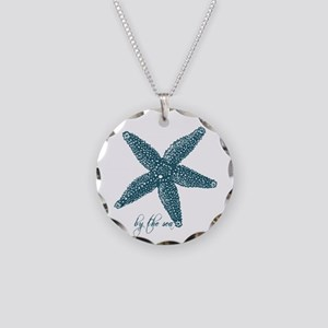 By the Sea Starfish Necklace Circle Charm