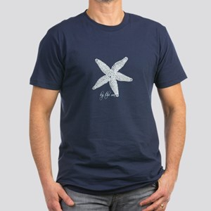 By the Sea Starfish Men's Fitted T-Shirt (dark)