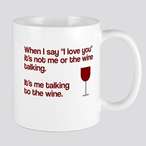 Me talking to the wine Mug