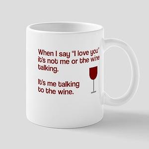 Me talking to the wine Mug
