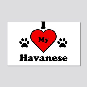 I Heart My Havanese 20x12 Wall Decal