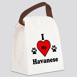 I Heart My Havanese Canvas Lunch Bag