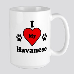 I Heart My Havanese Large Mug