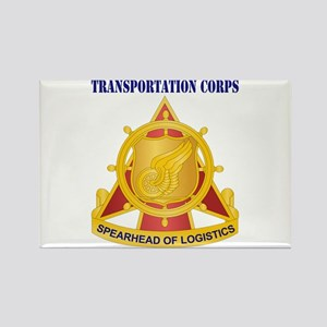 Transportation Corps Rectangle Magnet