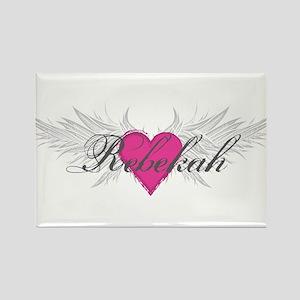 Rebekah-angel-wings Rectangle Magnet