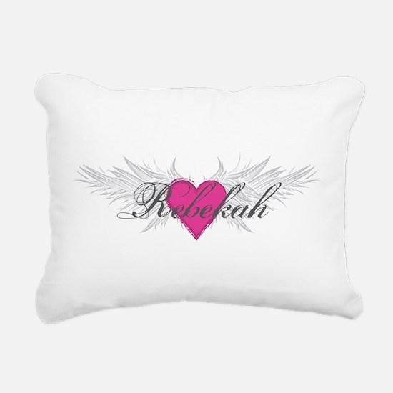 Rebekah-angel-wings.png Rectangular Canvas Pillow
