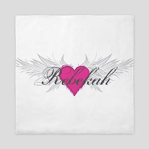 Rebekah-angel-wings Queen Duvet