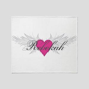 Rebekah-angel-wings Throw Blanket