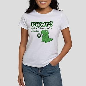 Cute! RAWR Means Love Women's T-Shirt