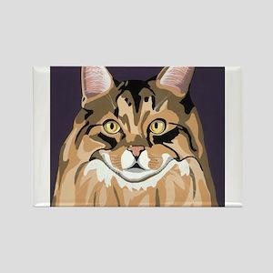 Cat Corky Rectangle Magnet