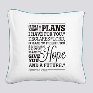 Hope and a Future Square Canvas Pillow