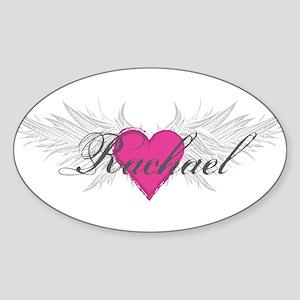 Rachael-angel-wings Sticker (Oval)