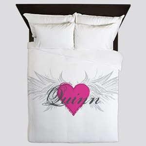 Quinn-angel-wings Queen Duvet