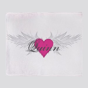 Quinn-angel-wings Throw Blanket