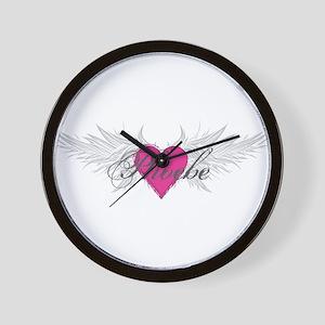 Phoebe-angel-wings Wall Clock