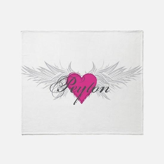 Peyton-angel-wings.png Throw Blanket