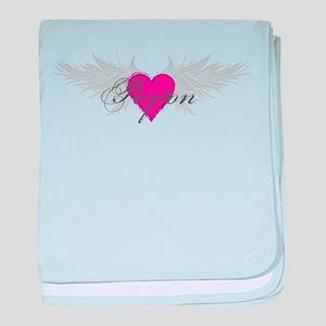 Peyton-angel-wings baby blanket