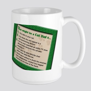 Cat Dad Large Mug
