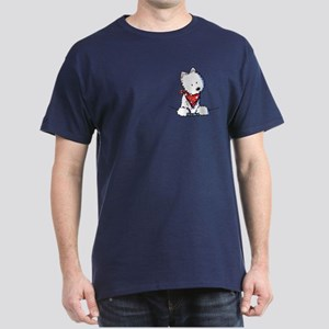 Pocket Westie Valentine Dark T-Shirt
