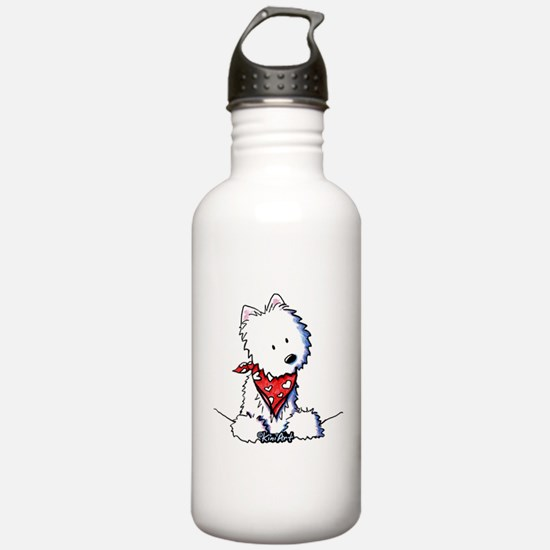 Pocket Westie Valentine Water Bottle