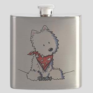 Pocket Westie Valentine Flask