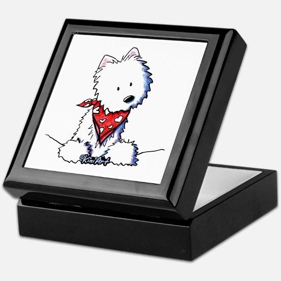 Pocket Westie Valentine Keepsake Box