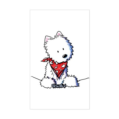 Pocket Westie Valentine Sticker (Rectangle)