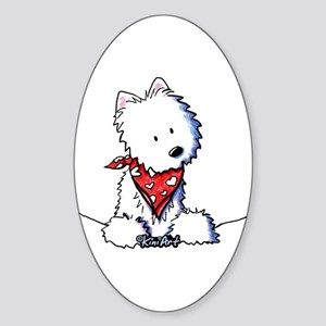 Pocket Westie Valentine Sticker (Oval)