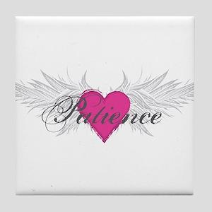 Patience-angel-wings Tile Coaster