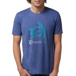 VTurtle Blue Mens Tri-blend T-Shirt