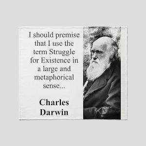 I Should Premise - Charles Darwin Throw Blanket