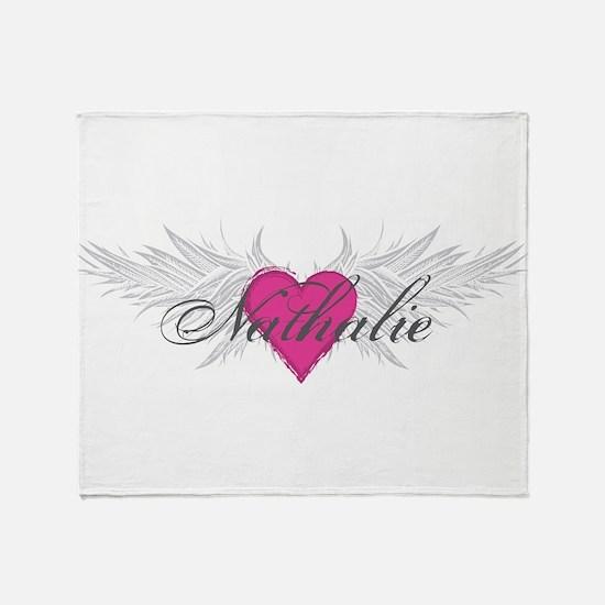 Nathalie-angel-wings.png Throw Blanket