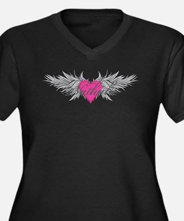 Nathalie-angel-wings.png Women's Plus Size V-Neck